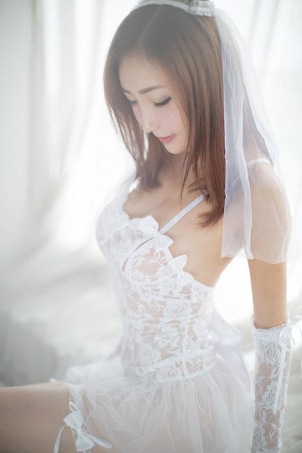 セクシー下着の通販商品:ナイトブライド・ドレス・イメージ写真1
