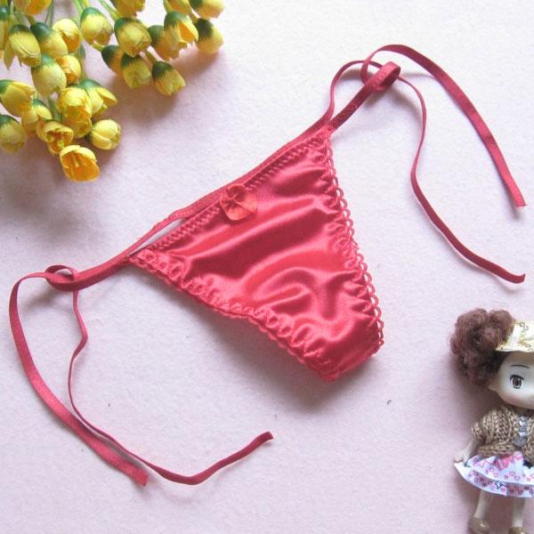 セクシー下着の通販商品:サイド結び・Tバック・ホットピンク・イメージ写真3