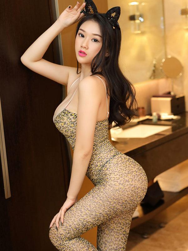 セクシー下着の通販商品:ヒョウ柄・ボディストッキング・イメージ写真3
