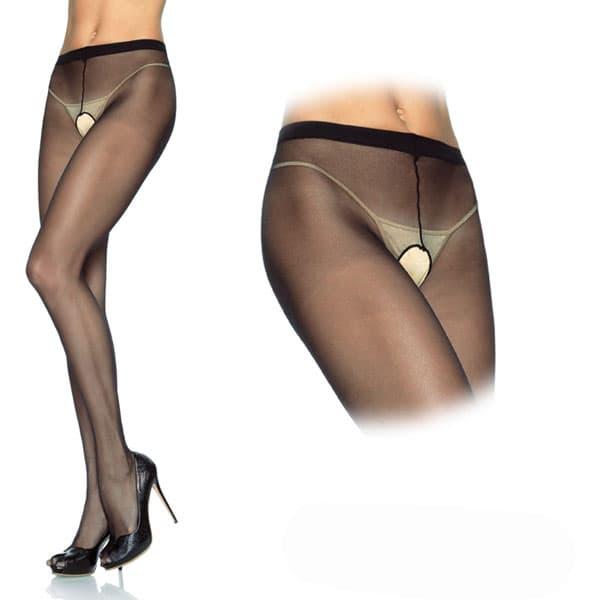 セクシー下着の通販商品:オープン・パンティストッキング・黒・イメージ写真1