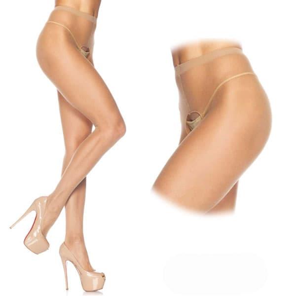 セクシー下着の通販商品:オープン・パンティストッキング・ベージュ・イメージ写真1