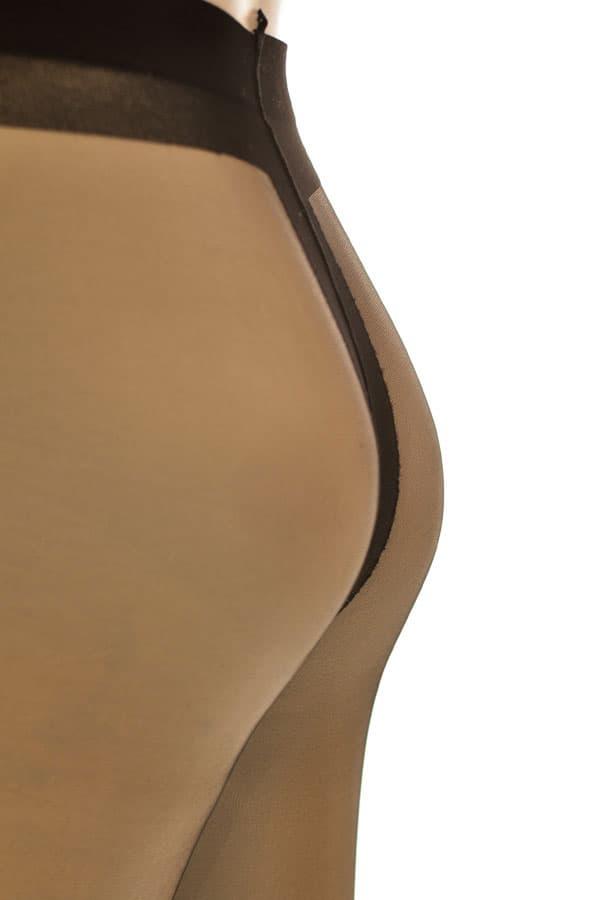 セクシー下着の通販商品:極薄8デニール・パンティストッキング・黒・イメージ写真3