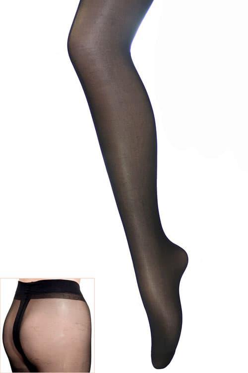 セクシー下着の通販商品:光沢グロス・薄手20デニール・パンティストッキング・黒・イメージ写真1