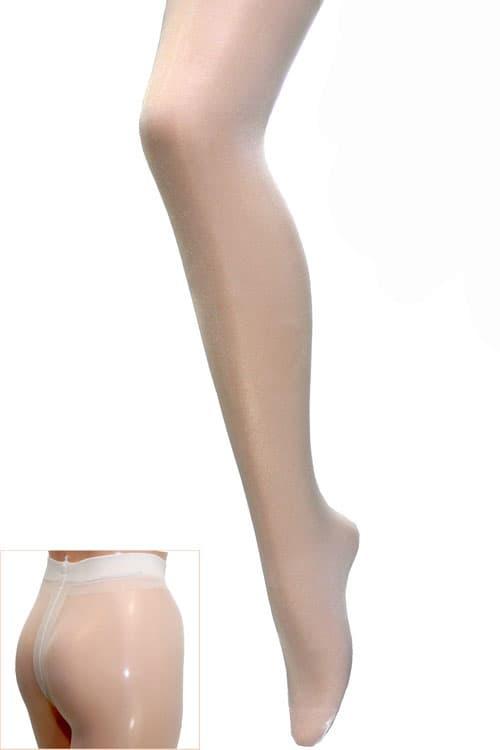 セクシー下着の通販商品:光沢グロス・薄手20デニール・パンティストッキング・白・イメージ写真1