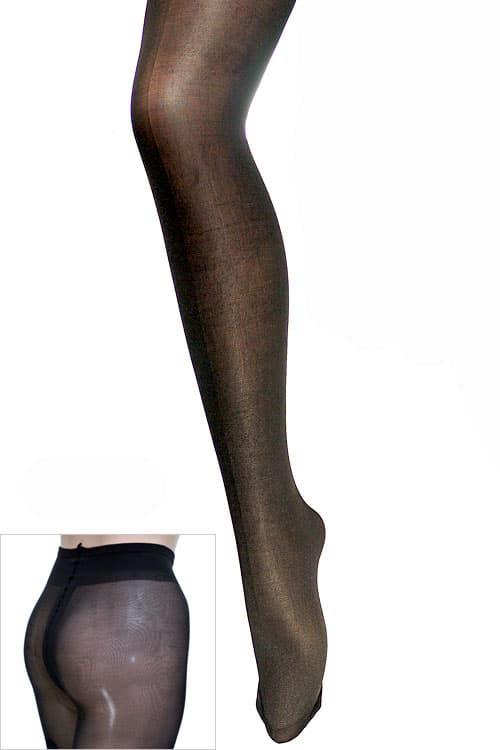 セクシー下着の通販商品:光沢グロス・40デニール・パンティストッキング・黒・イメージ写真1