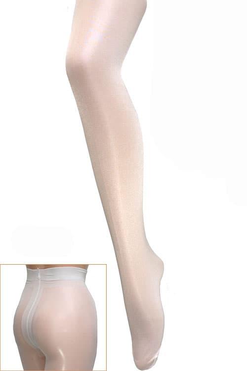 セクシー下着の通販商品:光沢グロス・40デニール・パンティストッキング・白・イメージ写真1