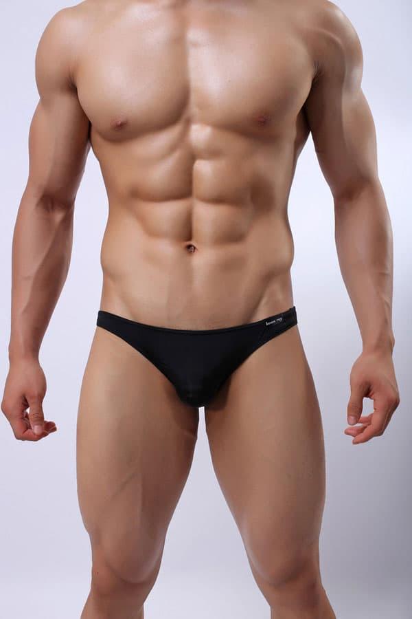 セクシー下着の通販商品:メンズ下着・セミシースルー・ビキニブリーフパンツ・黒・イメージ写真1