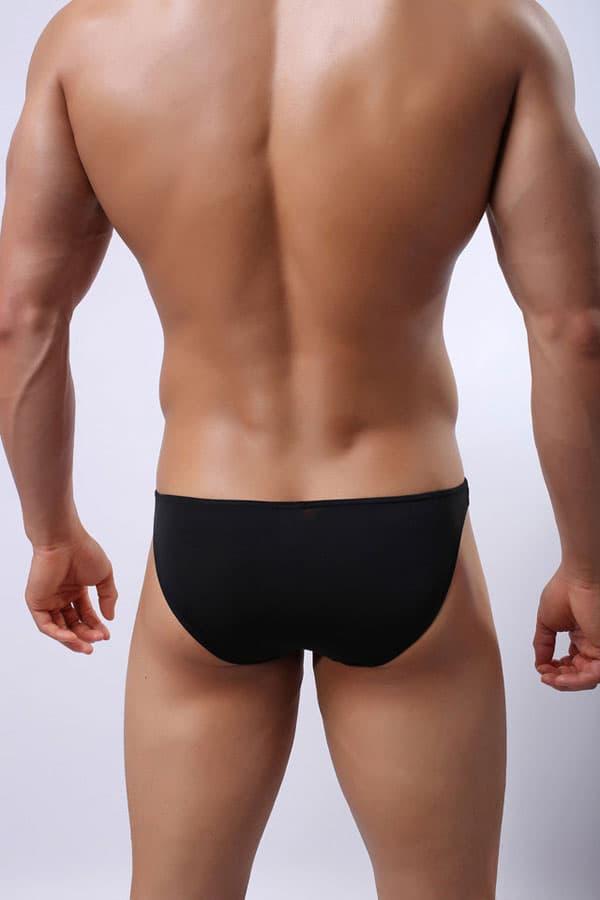 セクシー下着の通販商品:メンズ下着・セミシースルー・ビキニブリーフパンツ・黒・イメージ写真3