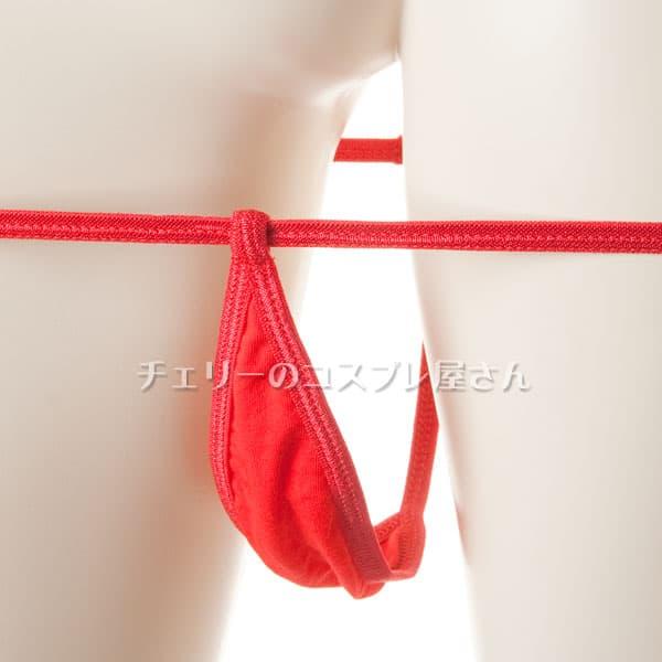 セクシー下着の通販商品:マイクロビキニ・赤・イメージ写真5