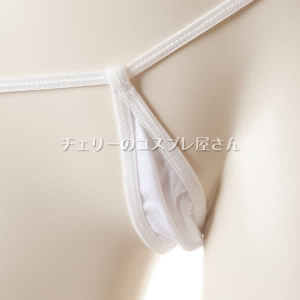 セクシー下着の通販商品:マイクロGストリング・白・イメージ写真2