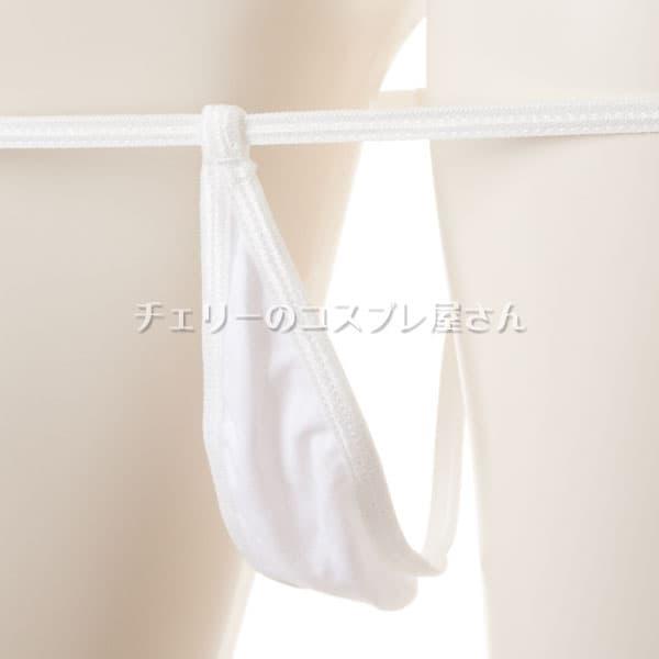 セクシー下着の通販商品:マイクロGストリング・白・イメージ写真3
