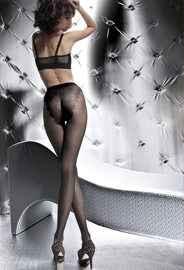 セクシー下着の通販商品:薄手20デニール・ヒップデザイン・パンティーストッキング・黒・イメージ写真1