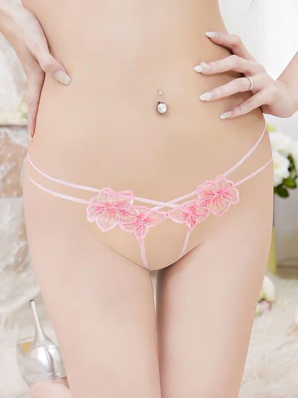 セクシー下着の通販商品:トップがでちゃう!フルオープンブラセット・ピンク・イメージ写真5