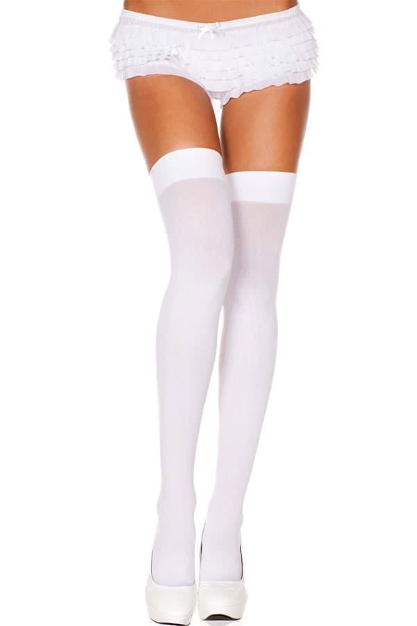 セクシー下着の通販商品:太ももギリギリ!オーバーニーソックス・ロングタイプ・65cm・白・イメージ写真1
