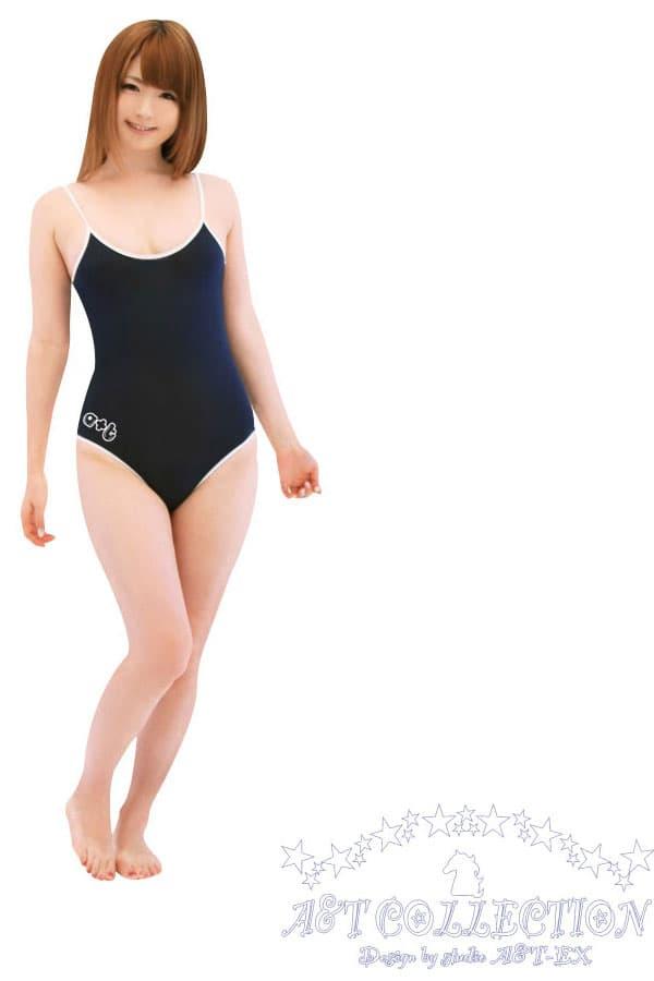 セクシー下着の通販商品:スクール水着・白縁・紺・イメージ写真1