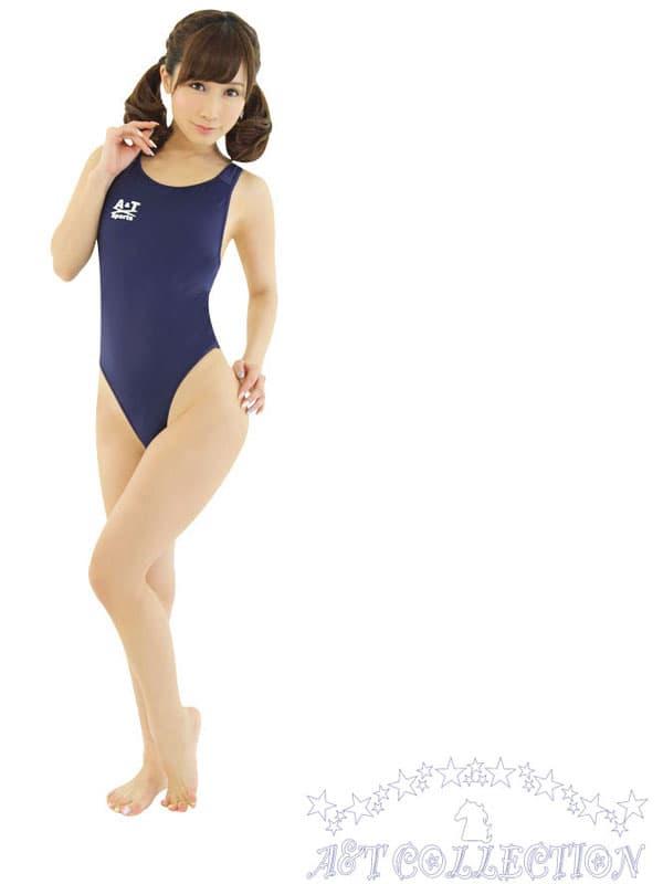 セクシー下着の通販商品:ハイレグ・うすうす競泳水着・紺・イメージ写真1