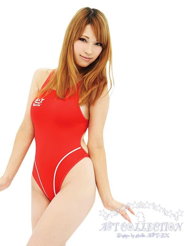 セクシー下着の通販商品:ハイレグ・うすうす競泳水着・赤・イメージ写真1