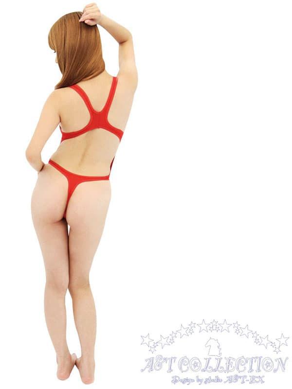 セクシー下着の通販商品:ハイレグ・うすうす競泳水着・赤・イメージ写真3