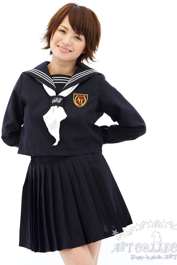 セクシー下着の通販商品:前開きセーラー服(白/黒)・長袖・リボン・イメージ写真4