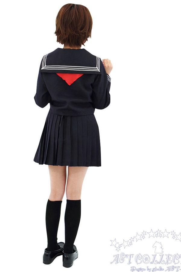 セクシー下着の通販商品:前開きセーラー服(白/黒)・長袖・リボン・イメージ写真5