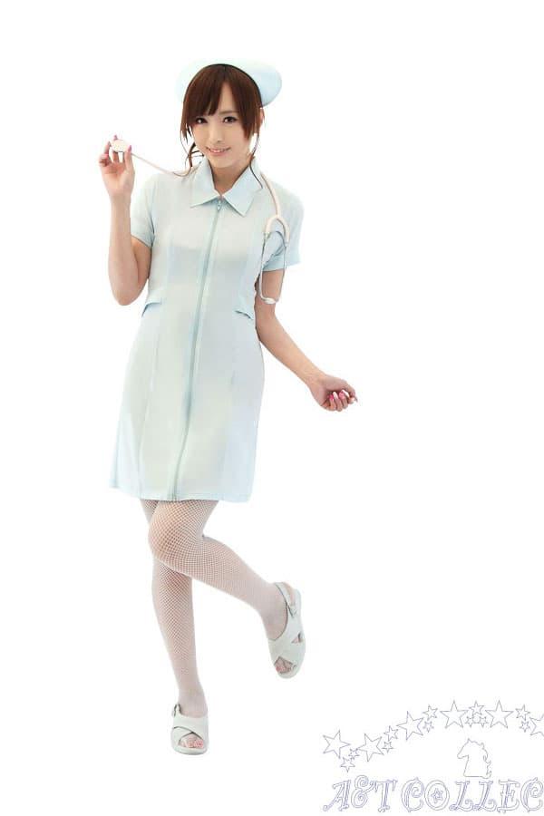 セクシー下着の通販商品:麗しのナース服・前開き・ストレッチ・イメージ写真2