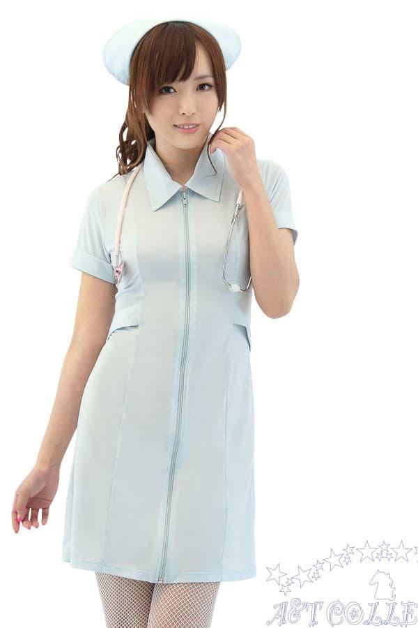 セクシー下着の通販商品:麗しのナース服・前開き・ストレッチ・イメージ写真3