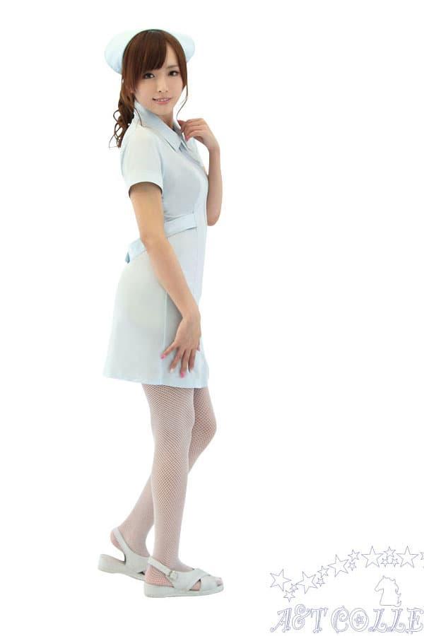 セクシー下着の通販商品:麗しのナース服・前開き・ストレッチ・イメージ写真4