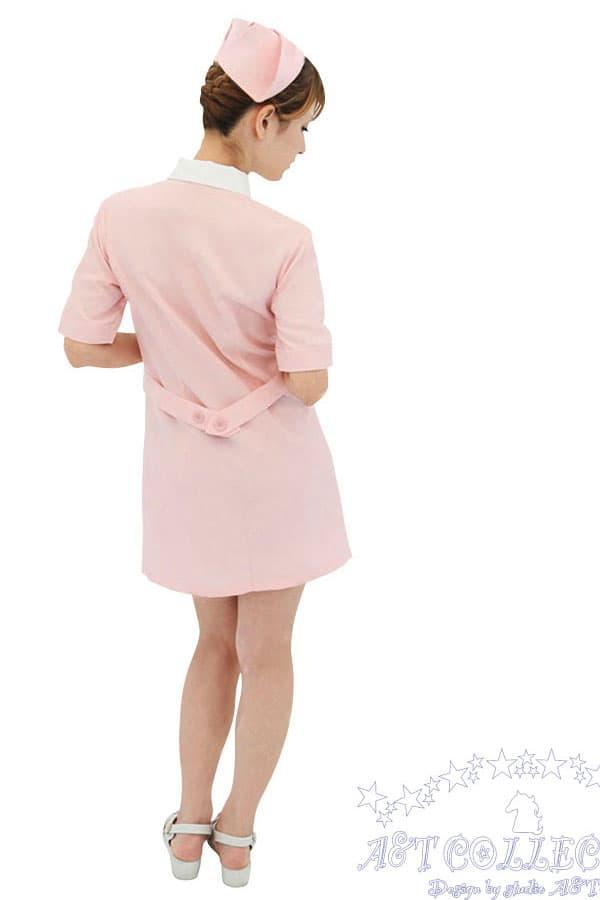 セクシー下着の通販商品:パステルピンク・ナース服・前ボタン・イメージ写真4