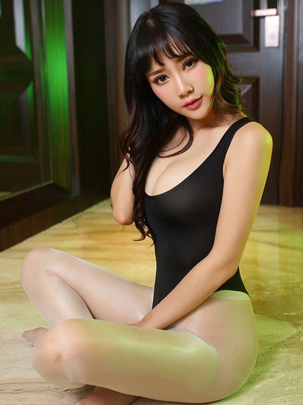 セクシー下着の通販商品:あいちゃう!オープン・ハイレグ・レオタード・黒・イメージ写真3