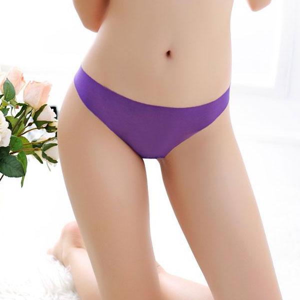 セクシー下着の通販商品:ストッキング素材・フルシースルーTバック・紫・イメージ写真1