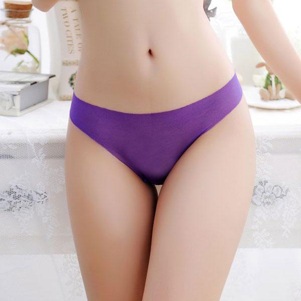 セクシー下着の通販商品:ストッキング素材・フルシースルーTバック・紫・イメージ写真2