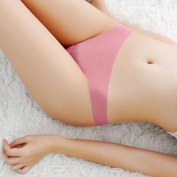 セクシー下着の通販商品:ストッキング素材・フルシースルーTバック・パッションピンク・イメージ写真2