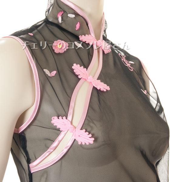 セクシー下着の通販商品:透け透け!シースルー・チャイナドレス・黒・イメージ写真7