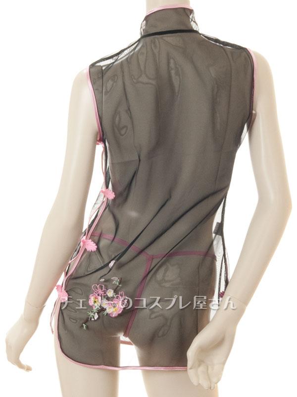 セクシー下着の通販商品:透け透け!シースルー・チャイナドレス・黒・イメージ写真8