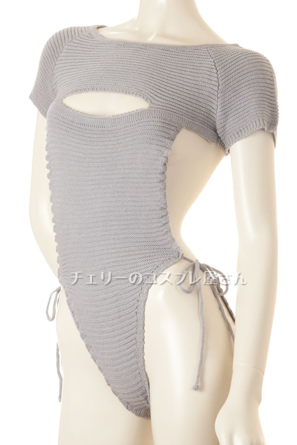 セクシー下着の通販商品:悩殺!背中が大きく開いたニットのテディ・イメージ写真5