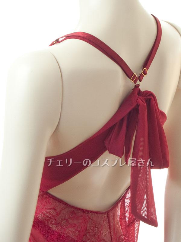セクシー下着の通販商品:キラリ輝く・魅惑のベビードール・ワインレッド・イメージ写真14