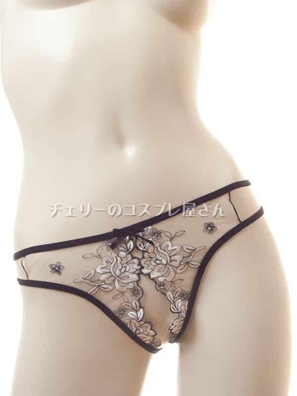 セクシー下着の通販商品:エレガント・オープンハーフバック・ショーツ・イメージ写真5