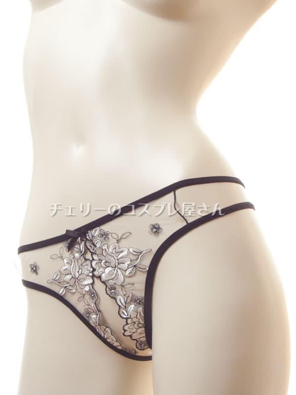 セクシー下着の通販商品:エレガント・オープンハーフバック・ショーツ・イメージ写真6
