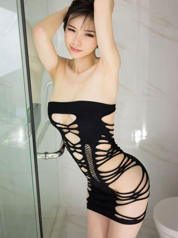 セクシー下着の通販商品:サイドストリング・チューブドレス・イメージ写真2