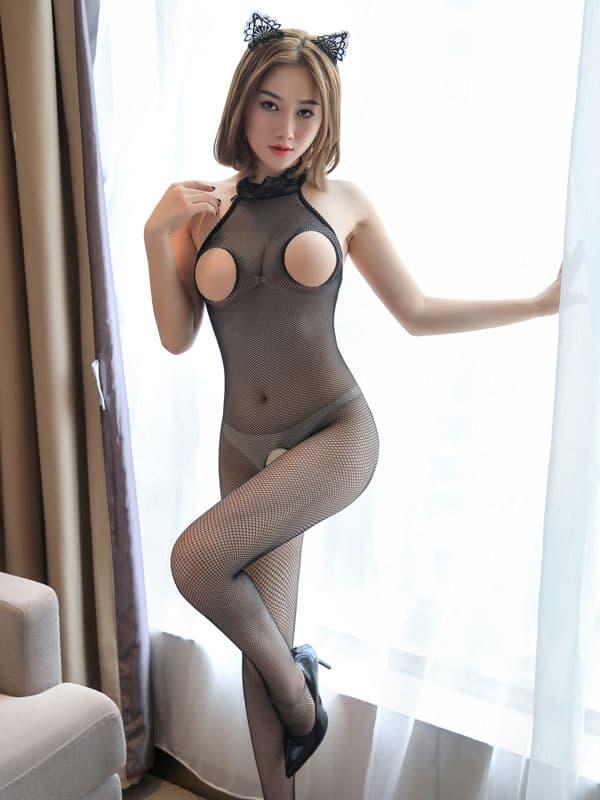 セクシー下着の通販商品:フルオープン・メッシュ・ボディストッキング・イメージ写真1