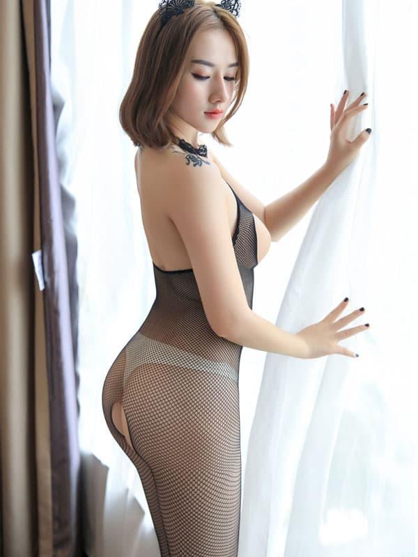 セクシー下着の通販商品:フルオープン・メッシュ・ボディストッキング・イメージ写真3