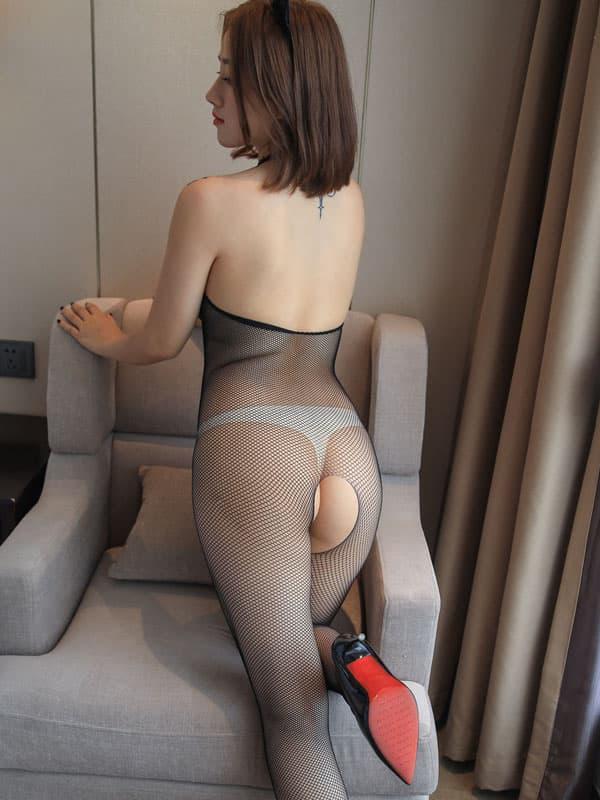 セクシー下着の通販商品:フルオープン・メッシュ・ボディストッキング・イメージ写真4