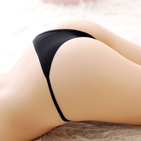 セクシー下着の通販商品:ローライズ・シースルーレース・ハーフバックショーツ・黒・イメージ写真5