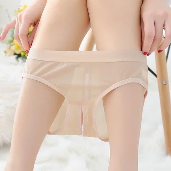 セクシー下着の通販商品:えっ!後ろがぱっくり・フルバックショーツ・ベージュ・イメージ写真2
