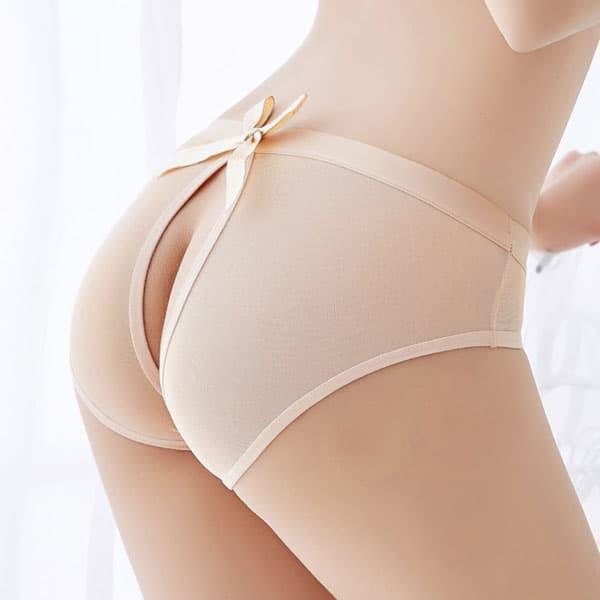 セクシー下着の通販商品:えっ!後ろがぱっくり・フルバックショーツ・ベージュ・イメージ写真4