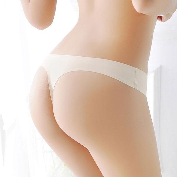 セクシー下着の通販商品:ショーツラインが目立たない・フィットTバック・ベージュ・イメージ写真4