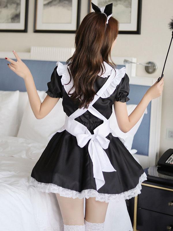 セクシー下着の通販商品:ハートオープン・猫耳メイドドレス・イメージ写真4