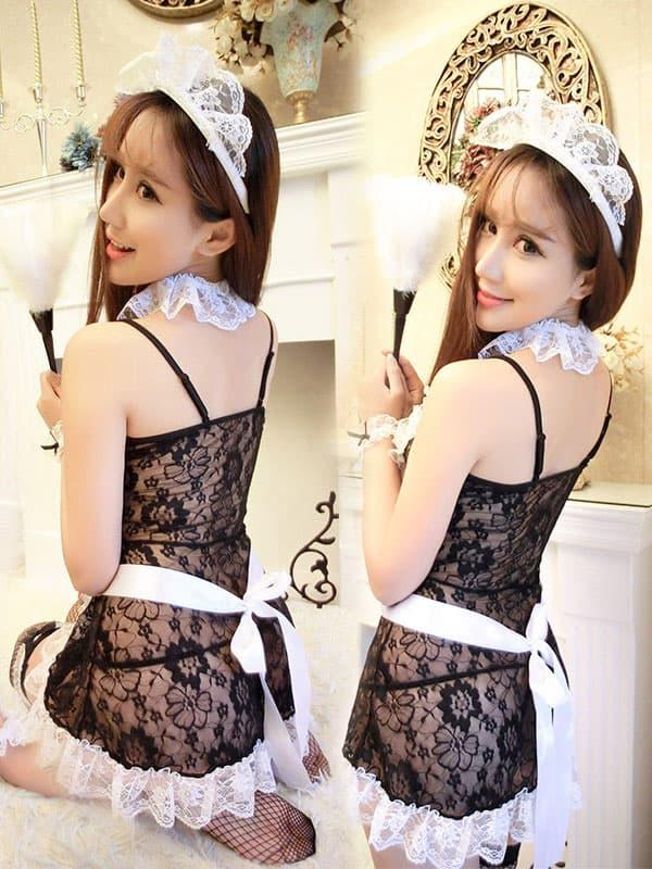 セクシー下着の通販商品:シースルー・メイドドレス・メイドドレス・イメージ写真3