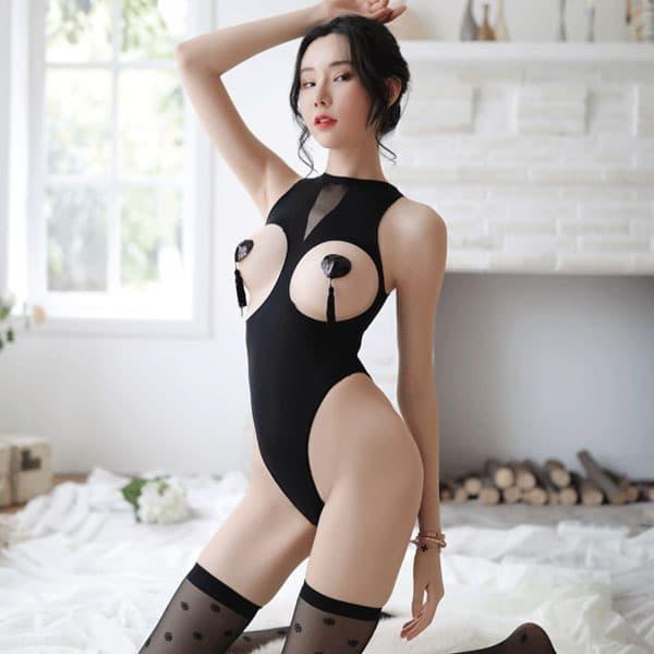 セクシー下着の通販商品:ザ・オープンバスト・ストッキングテディ・イメージ写真