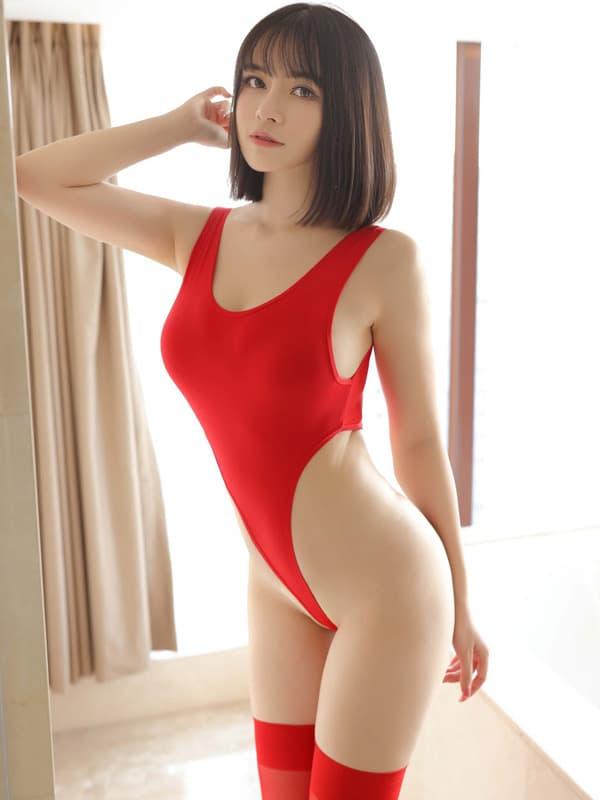 セクシー下着の通販商品:超ハイレグ・レオタード・赤・イメージ写真1